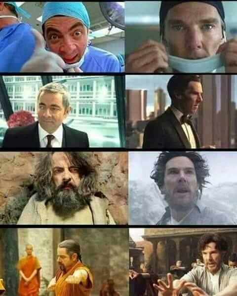 Mr Bean is looking rather Strange...