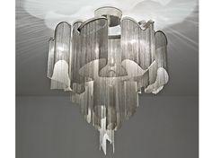 Lampada da soffitto alogena in metallo Collezione Stream by TERZANI | design Christian Lava