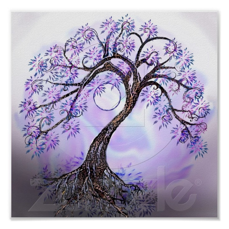 Lavender Tree of Life by  autumnrosemds