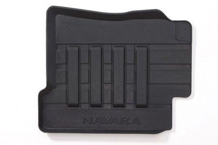 Nissan NP300 Navara (D23M) Rubber Mats with raised edges, Front & Rear RHD DC - KE7584K089
