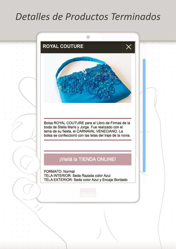 Cada producto incluye una breve DESCRIPCIÓN e INFO sobre los materiales con los que fue realizado http://www.milibrodefirmas.com/