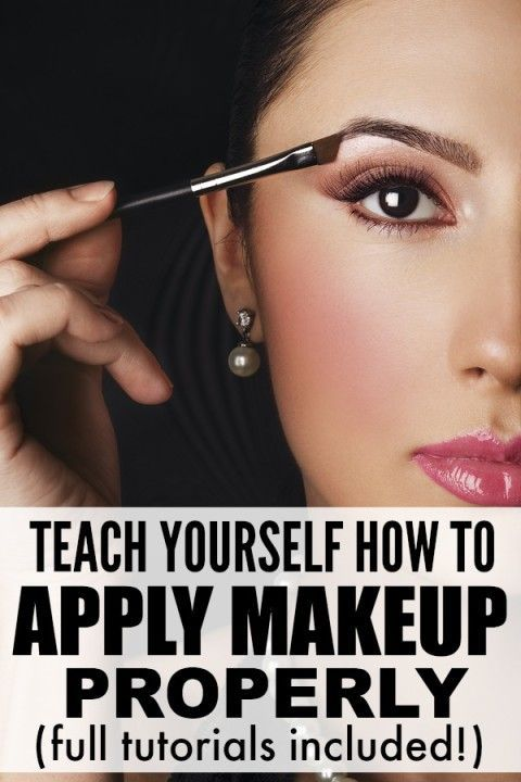 From foundation and contour, to blush and eyebrows, to eyeshadow and eyeliner, this collection of makeup tutorials is just what you need to teach yourself not only how to apply makeup, but how to apply makeup properly.