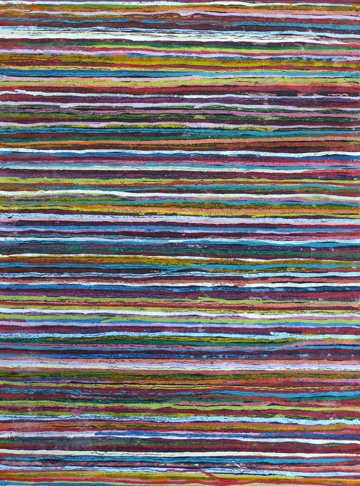 Willy Alferink. Streepje voor... nr.1  In dit schilderij heb ik een bijzondere structuur verwerkt en het is afgewerkt met een glanzende laag epoxy kunsthars. Dit schilderij kan zowel horizontaal als verticaal worden opgehangen.