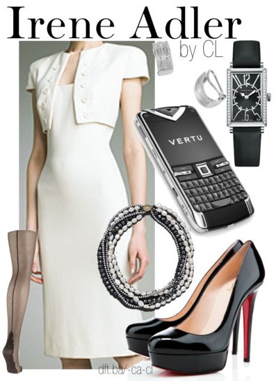 Irene Adler, Nerdy Fashion Blog. This outfit was awesome in the show. LOVED it.