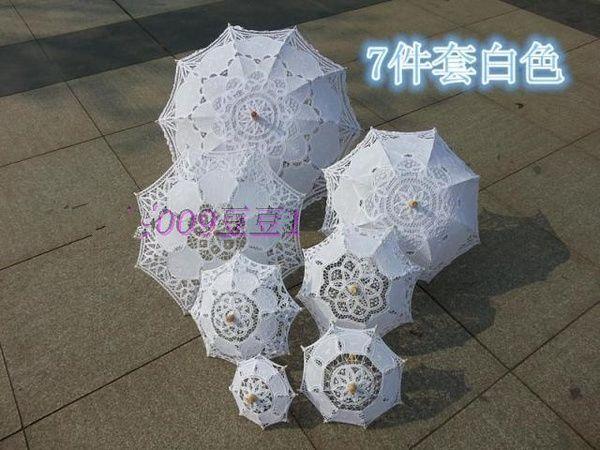 Белые кружева зонтик свадебный прием Украшение стола дворец принцессы зонтик ремесло зонтик зонтик невесты свадьба реквизит