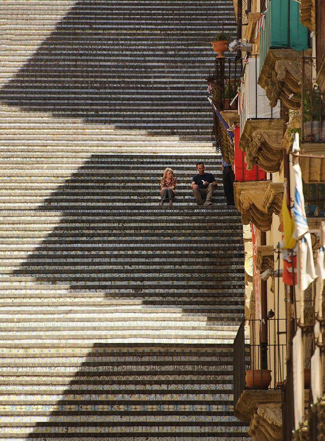 Caltagirone, Sicilia (Sicily), Scalinata (Staircase) di Santa Maria del Monte