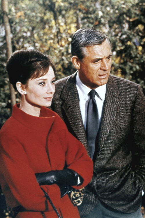 Charade with Hepburn and Grant lovely together. <3 her style
