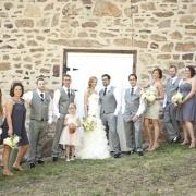 grey bridal party