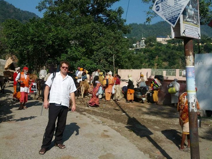 http://taojourneys.com/journey-to-india  Enjoying being able to mix with the Holy Sadhus in Rishikesh by the Ganges River.