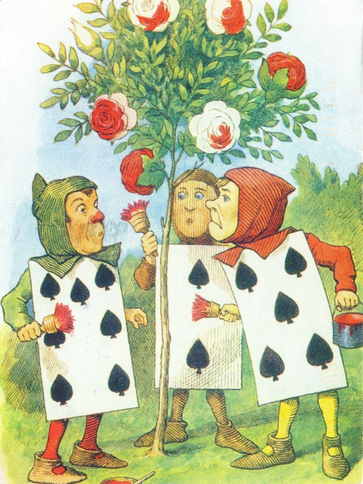 'Painting the Roses Red' by John Tenniel from 'Alice's Adventures in Wonderland' (Lewis Carroll)