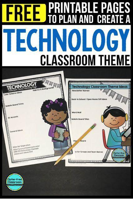 Technology Themed Classroom – Ideas & Printable Classroom Decorations
