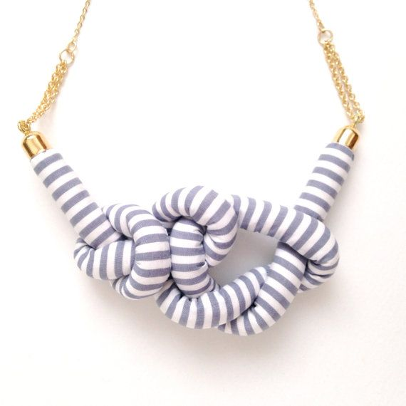 striped knot necklace