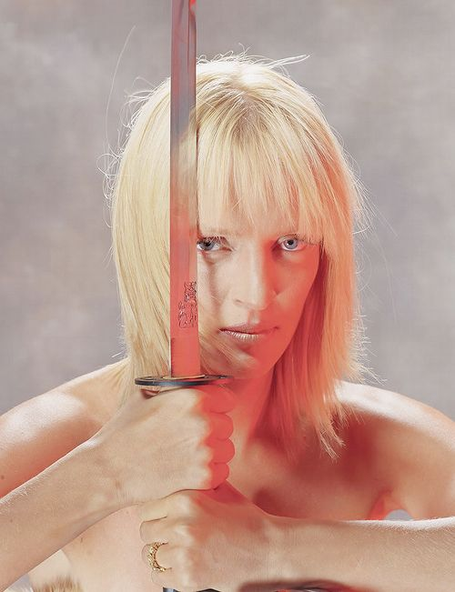 peachbrains:   Promo of Uma Thurman for Kill Bill vol. 1 (2003)  Fuck!