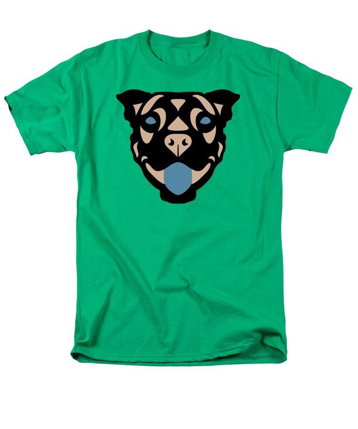 T-Shirt Terrier Terry - Dog Design - Greenery, Hazelnut, Niagara Blue by AMnuel Süess | Order at http://artprintsofmanuel.com/products/terrier-terry-dog-design-greenery-hazelnut-niagara-blue-manuel-sueess-adult-tshirt.html