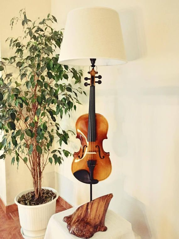 violin lamp by MusicLampsArt on Etsy