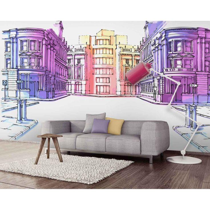 les 40 meilleures images du tableau d co papier peint. Black Bedroom Furniture Sets. Home Design Ideas
