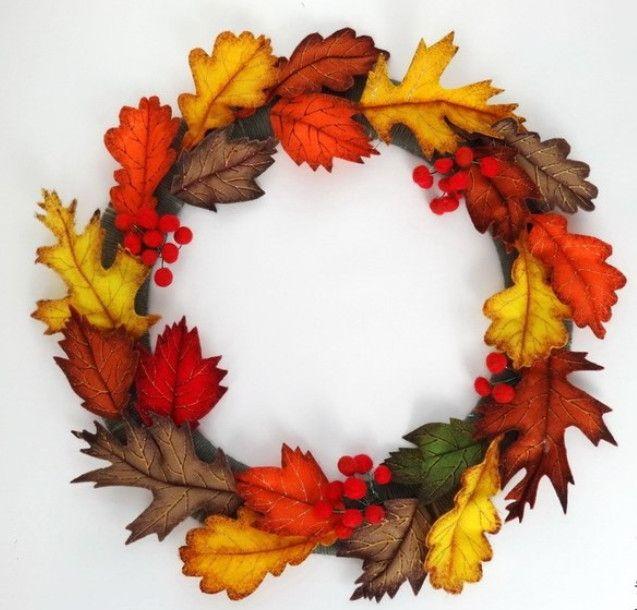 НАША СТРАНА МАСТЕРОВ: Осенний венок из фетровых листьев. Мастер-класс