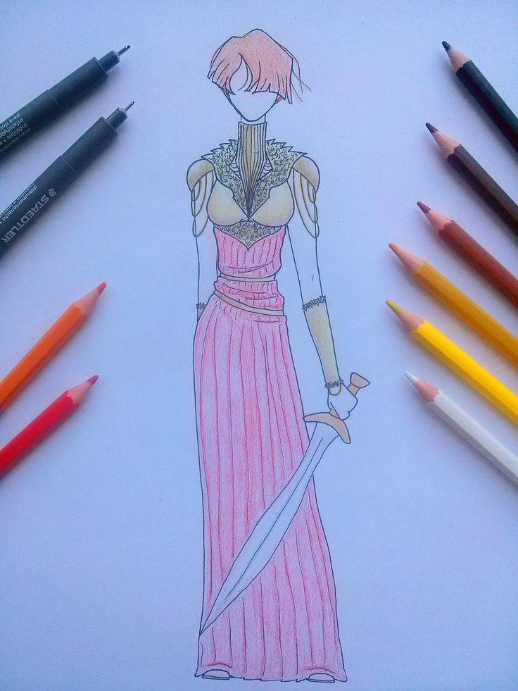 Armadura de Diosa Asteria.  #rojoyoro #asteria #amazona #amazonaroja #diosa #orión #dolor #diosadeldolor #libros #arte #diseño #armadura #armauradorada #lápicesdecolores #rojo