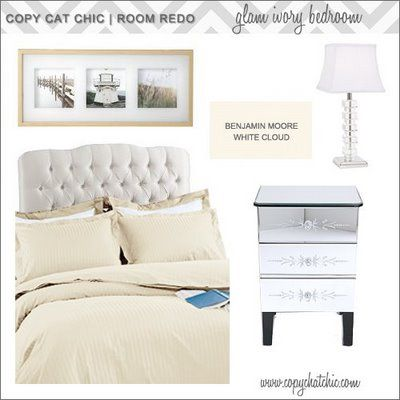 | Copy Cat Chic | chic for cheap: | Glam Ivory Bedroom |