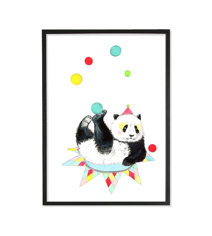 Digital illustration of a PandaClown. Frame not included. Signed by the artist and shipped in a protective card tube. www.marenberg.dk  contact@marenberg.dk  www.facebook.com/marenberg.dk. You can buy this piece here: www.artrebels.com #artrebels #rebelkids #art
