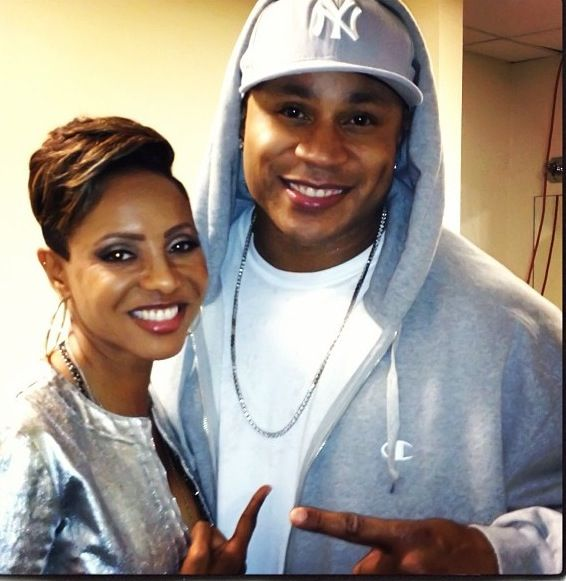 MC Lyte, here pictured with LL Cool J.