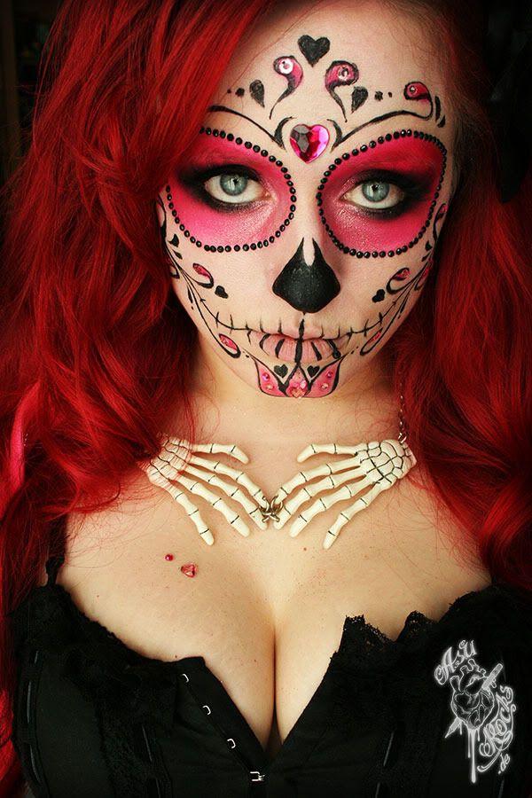 Sugar Skull Makeup Designs | Aber es war noch ein weiter Weg bis zur Umsetzung, den vor allem die ...
