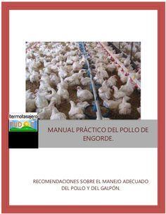 MANUAL PRÁCTICO DEL POLLO DE  ENGORDE.  RECOMENDACIONES SOBRE EL MANEJO ADECUADO  DEL POLLO Y DEL GALPÓN.