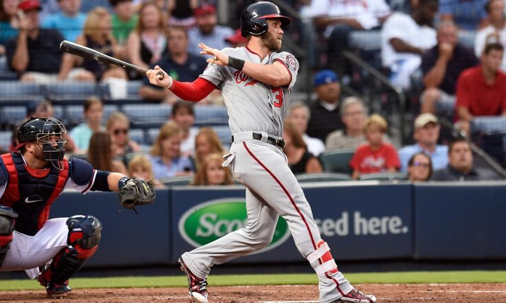 Reigning NL MVP Bryce Harper hit a home run in his first at-bat of ...