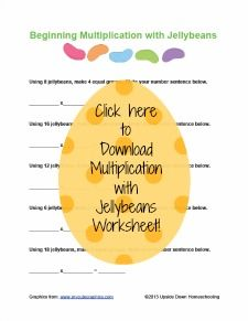 Homeschooling with Jellybeans {FREE Printables} - Upside Down Homeschooling