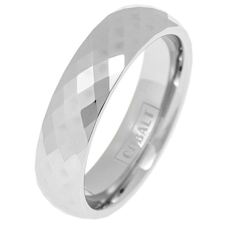 Faceted Design Cobalt Ring