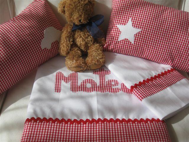 Custom sheet & cushion