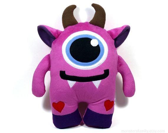 Cute Stuffed Monster Plush Toy Stuffed Animal Monster Birthday Easter Gift For Kids Monster Plushie Kawaii Plush Monster Basket Stuffers