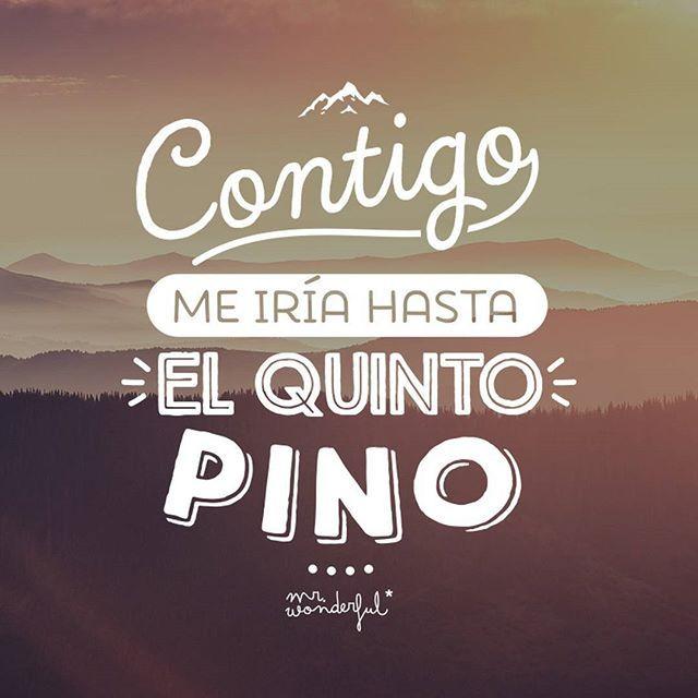 Hasta Pekín, Alaska o el Machu Picchu, no me importa si es contigo. #mrwonderful #quotes #love #design