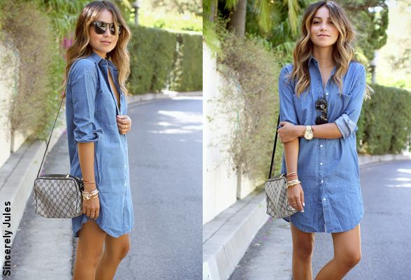 Robe-chemise en jean