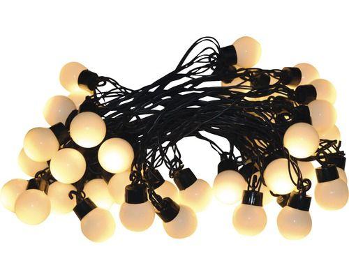 Globe-Lichterkette Batterie LED 20er, kaltweiß