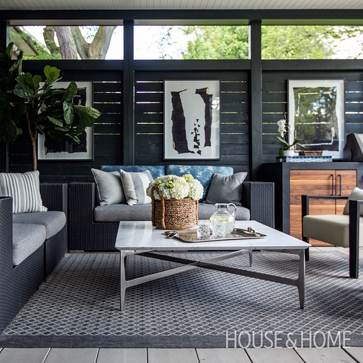 Expanding your space or considering a covered patio? Designer Tara Fingold offers a stunning lead to follow as she tours the family room and patio additions in her home. | Photo: Jason Stickley