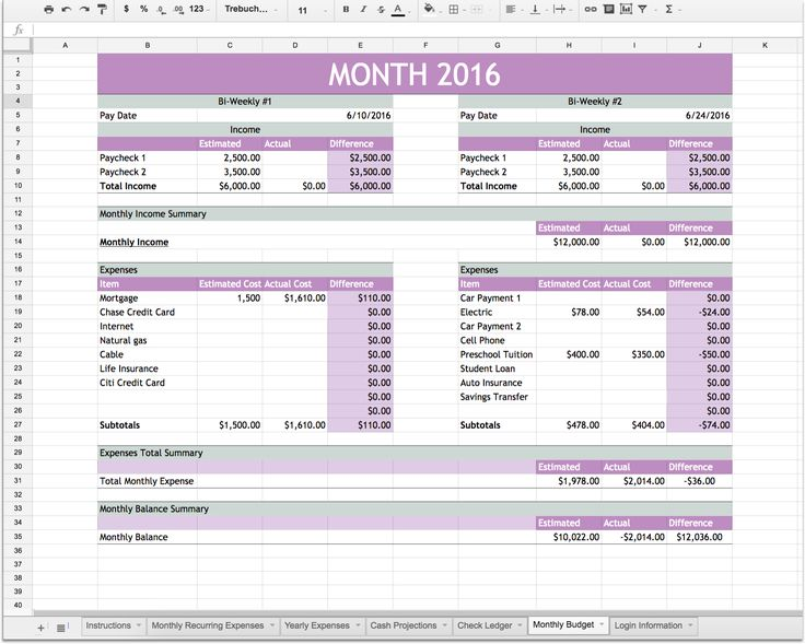 66 best Budgets and Organization images on Pinterest Finance - budget plan