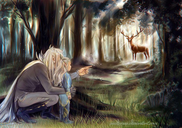 """Hold still by Cudzinec.deviantart.com on @DeviantArt - Thranduil and Legolas from """"The Hobbit"""""""