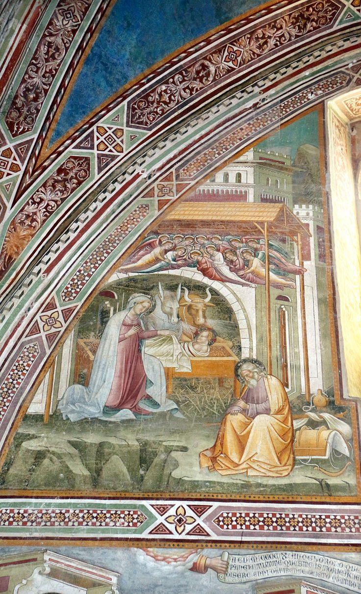 Cenni di francesco, cappella della croce di giorno, 1410, stroie di cristo nell'abside, natività.JPG