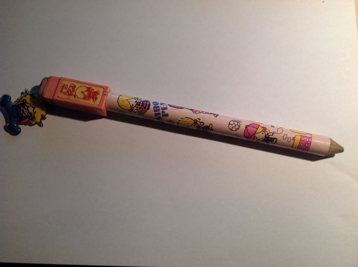 Jumbo pencils. For sure an 80's thing