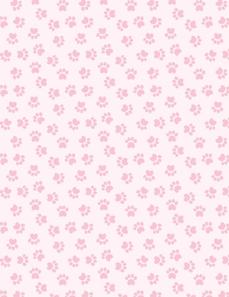 Fundo rosa e patas de cães-Minus