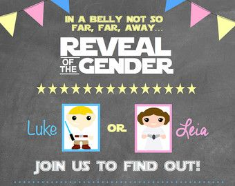 Star Wars Gender Reveal Invitation by JakeandJess on Etsy