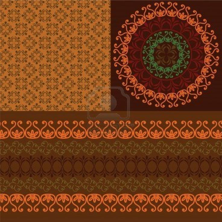 Henna Banners & borders