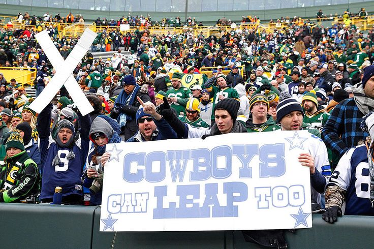 1-11-15 Divisional Round: Cowboys vs. Packers  Cowboys fans at Lambeau Field