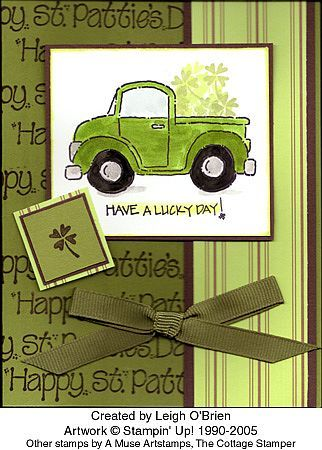 Stampin' Up! Loads of Love - St. Patrick's Day