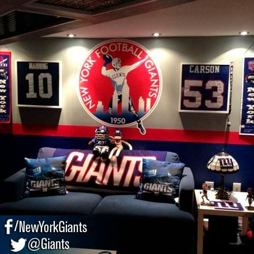 15 Best Ny Giants Rooms Images On Pinterest Bedrooms