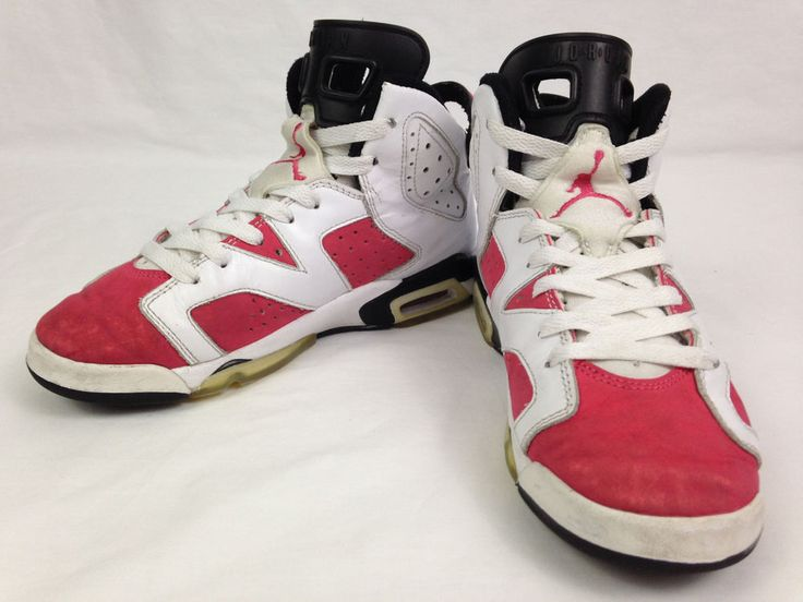 NIKE AIR JORDAN 6 VI Retro Shoes 3.5Y White Rose Blk Basketball 2009  384665-161