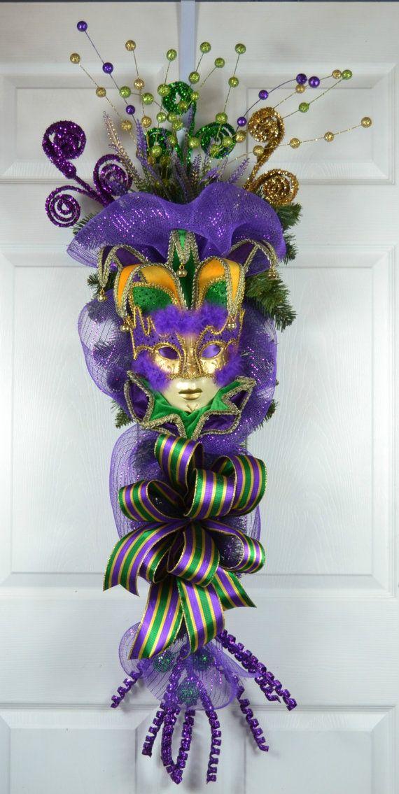 Ms de 25 ideas nicas sobre Mardi gras wreath en ...