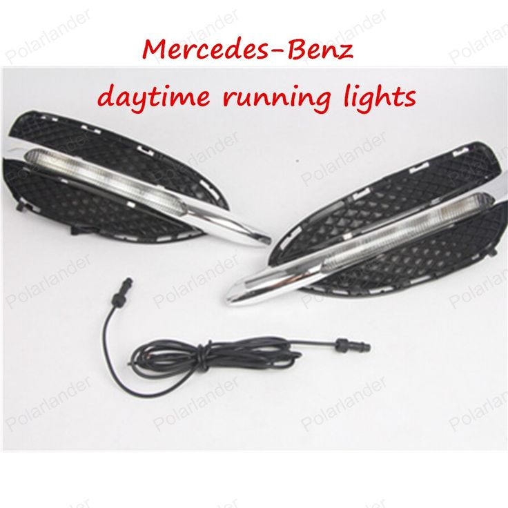 Car LED DRL For Mercedes-Benz W212 E-class High Power White Fog Cover Daytime Running Lights Kits