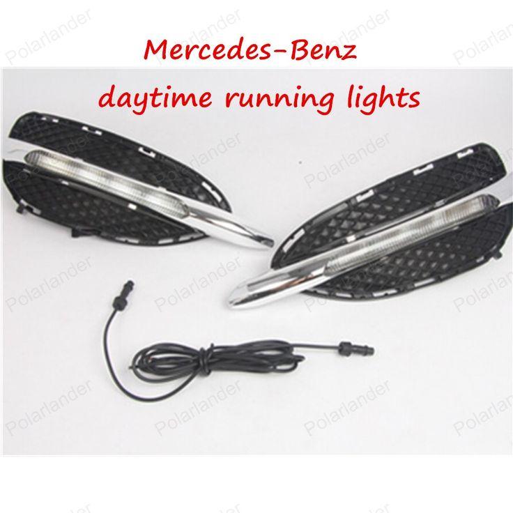 Car LED DRL For Mercedes-Benz W212 E-class High Power White Fog Cover Daytime Running Lights Kits